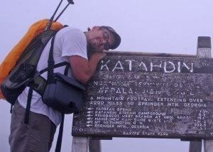 me on top of katahdin flat